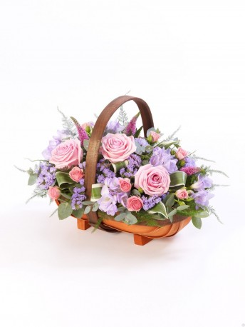 Mixed Basket - Pink and Lilac Pink & Lilac