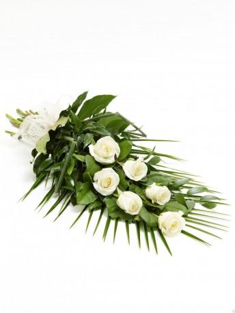 Simple Rose Sheaf White