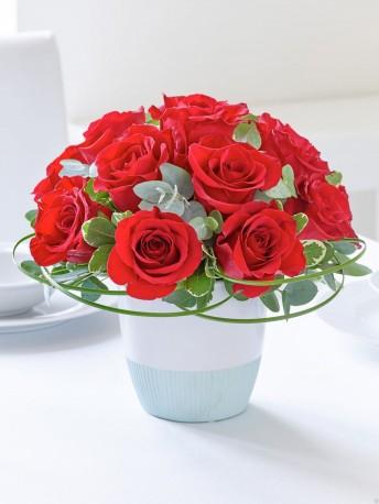 Classic Chic Red Rose Arrangement
