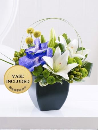Lily and Vanda Orchid Arrangement