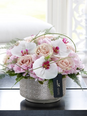 Luxury Pink Hydrangea, Orchid and Rose Arrangement