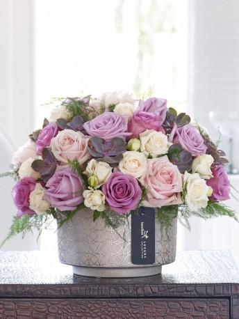 Luxury Rose and Echeveria Arrangement