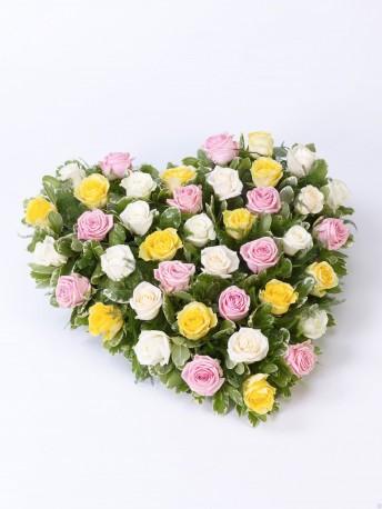 Mixed Rose Heart Mixed