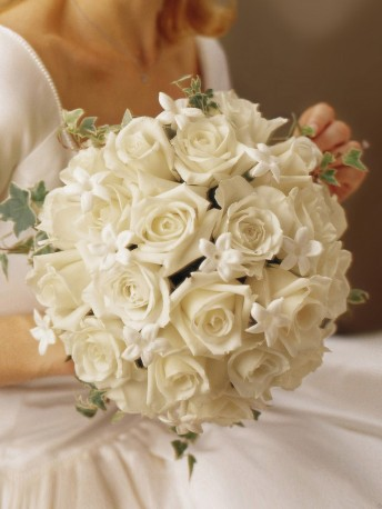 Graceful Rose & Stephanotis Scented Bridal Bouquet