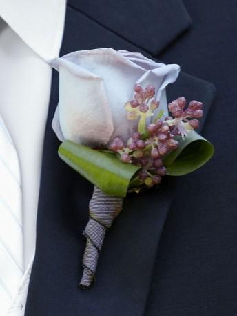 Soft Lilac Boutonniere