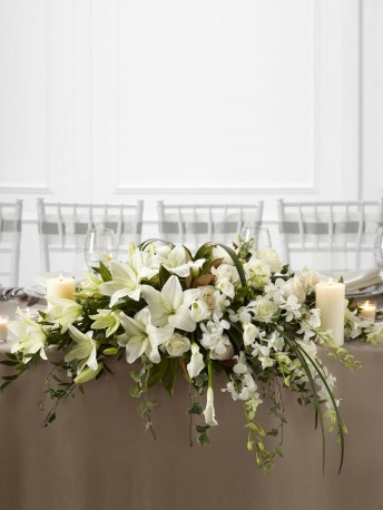 White Linen Arrangement