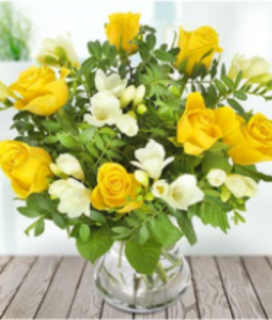 Lemon and White Hand-tied