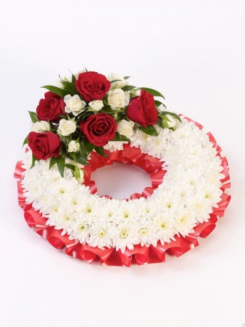 Traditional Wreath - White and Pink Red & White