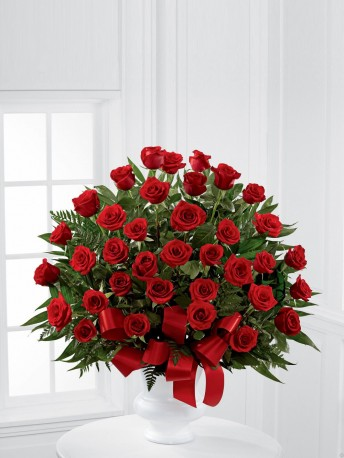 Red Rose Service Arrangement