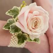 Soft Pink Rose Wrist Corsage