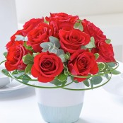 Classic Chic Red Rose Arrangement