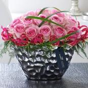 Luxury Pink Rose and Gloriosa Arrangement