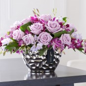 Luxury Purple Orchid Arrangement