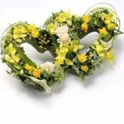 Double Heart Tribute Yellow