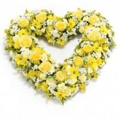 Open Heart Yellow & White