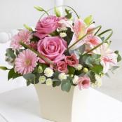 Pink Exquisite Arrangement with Chocolates