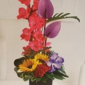 Summer Orchid and Gladioli Arrangement