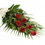 Simple Rose Sheaf Red