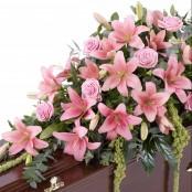 Rose and Carnation Casket Spray Pink