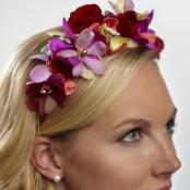 Vibrant Orchid & Rose Headband