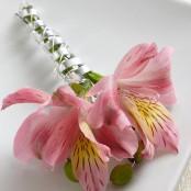 Pink Alstroemeria Boutonniere