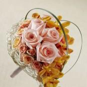 Peach Waterfall Bouquet