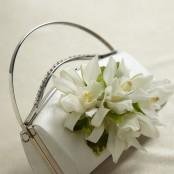 Elegant White Handbag Corsage