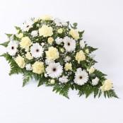Carnation and Germini Teardrop Spray Yellow & White