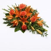 Rose and Lily Spray Orange