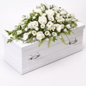 Children's Casket Spray White