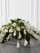 Calla Lily and Orchid Casket Spray Calla Lily and Orchid Casket Spray