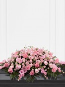 Mixed Casket Spray - Pink Mixed Casket Spray - Pink