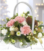 Festive white Basket